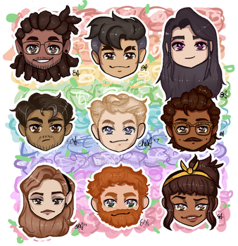 dream daddy heads by hellairwie