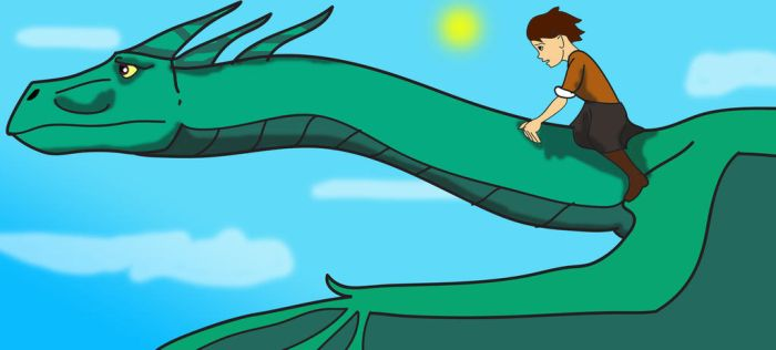 Jule and the dragon fly by Troyodon