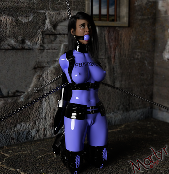 Aisha Siltexed and Sleeved Prisoner by MartyMartyr1