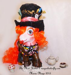 The Mad Hatter II Custom My Little Pony Front by mayanbutterfly