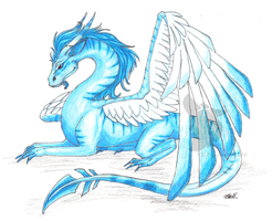 Ice Dragon by SUNgoddessOKAMI