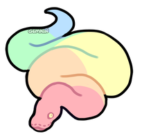 Pastel Rainbow Snake Adoptable CLOSED by F1SHB0NES