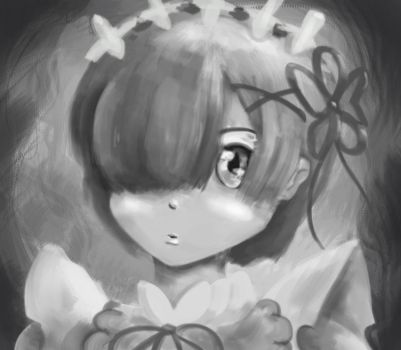Rem black and white by HUNKHANKS