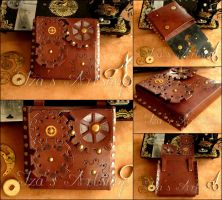 Small Steampunk Leather Belt Bag II by izasartshop