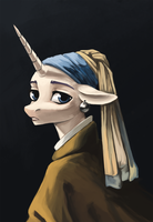 Mare with a Pearl Earring by Weird--Fish