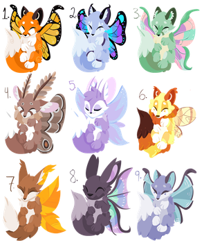 Winged Adopts [CLOSED] by FlupTheWhat