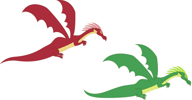 Dragons by SilverVectors