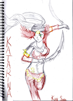 Katarina Sketch Requests - Sandstorm skin by KireiSora