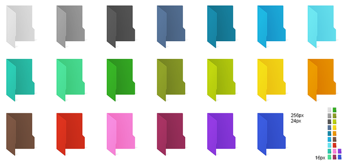 Windows 10 coloured folder icons by ABS96