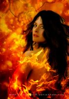 Lady mystique on fire by Sannie10