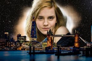 Giantess Emma Watson causes a solar eclipse  by giantessgirls