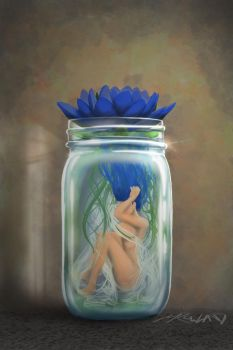 Girl in a jar by mickrowland