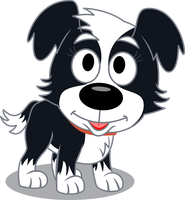 Zipper the Zoomit Dog by ParaPups