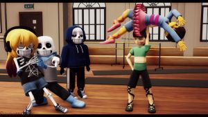 {MMD x Undertale aus and oc}~Dance class. by sweettooth2220