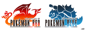 Final Fantasy Logo Art: Pokemon Red and Blue by Master-Rainbow
