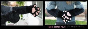 Maki-badfox hand paws with sleeves by stuffedpanda-cosplay