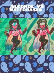 Waterbased VS alcoholic markers by MeLovesTacos