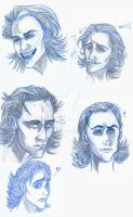 Cartoon Loki faces, Avengers by AmberPalette