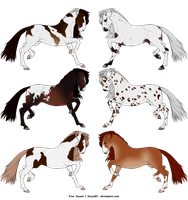 Horse Adoptables by Eskwald