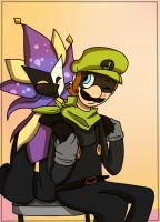 Dimentio and Mr.L by mariogamesandenemies