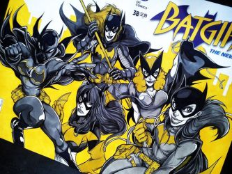 batgirls on a blank cover. by curseoftheradio