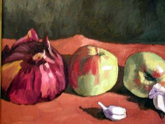 Still Life with Onions by bluefooted