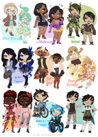 Magical Girl Adopts - Set 2 (SOLD) by Beedalee-Art
