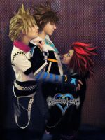 Axel Roxas Sora by TheSinisterLove