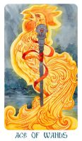 Ace of wands by Losenko