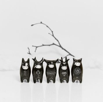 Night Spirit Figurines by RamalamaCreatures