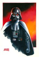 Darth Vader Commissioned Painting by Erik-Maell