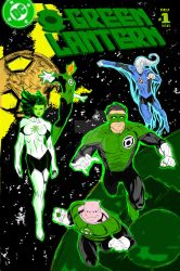 Green Lantern mixed cover full color Commission by redskindavyd