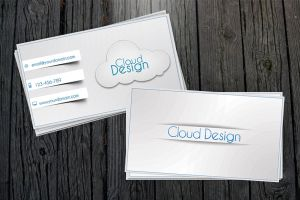 White-Blue Business Card + All .PSD by vitalyvelygo