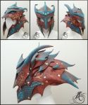 Dragon Helmet by JAFantasyArt