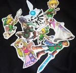 The legend of zelda stickers! by LZCCreations