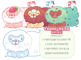 p2u base - yummy bears! psd + ms paint friendly! by plushpon