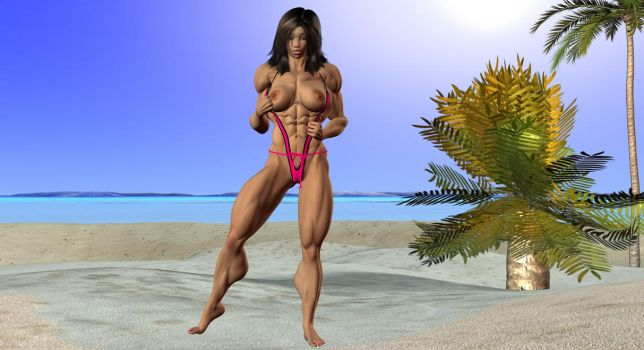 Lin on the beach 4 by Freedom by vince3