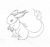 Bunny Dragon Doodle by sunnyfish