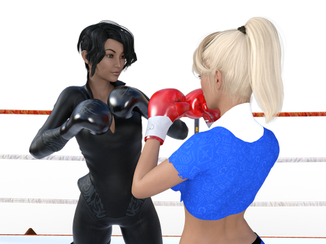 Nadine Vs Natsuko by Erazer941 by WaifuWars