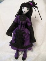 Purple dress girl by dollmaker88