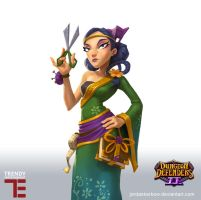 Dungeon Defenders 2 Costume shop Keeper by JordanKerbow