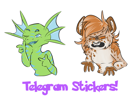 Some more telegram stickers! by Muxical