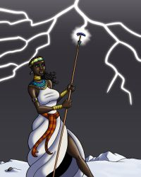 Itaweret and the White Fire of Olympus by TyrannoNinja