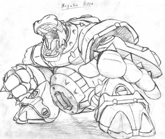 Megaton Hippo (Rough Sketch) by MarxForever