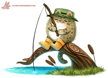 Daily Paint #1160. Fishing Cat by Cryptid-Creations