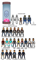 Mighty Morphin Power Rangers Supporting Characters by dudebrah