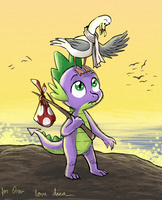Spike and the seagull by Pedantia