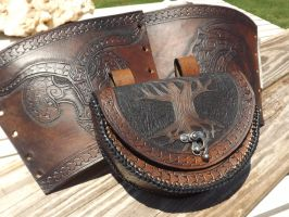 Viking Bracers and Pouch by The-Beast-Man