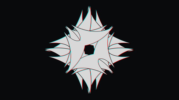 3D Conversion of a logo I made. by un-originiality