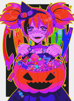 gimme all your candy or I'll burn your house down by CHARIKO